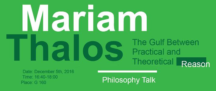 Mariam Thalos Talk